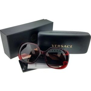 VE4331-388-13 Women's Red Frame Sunglasses